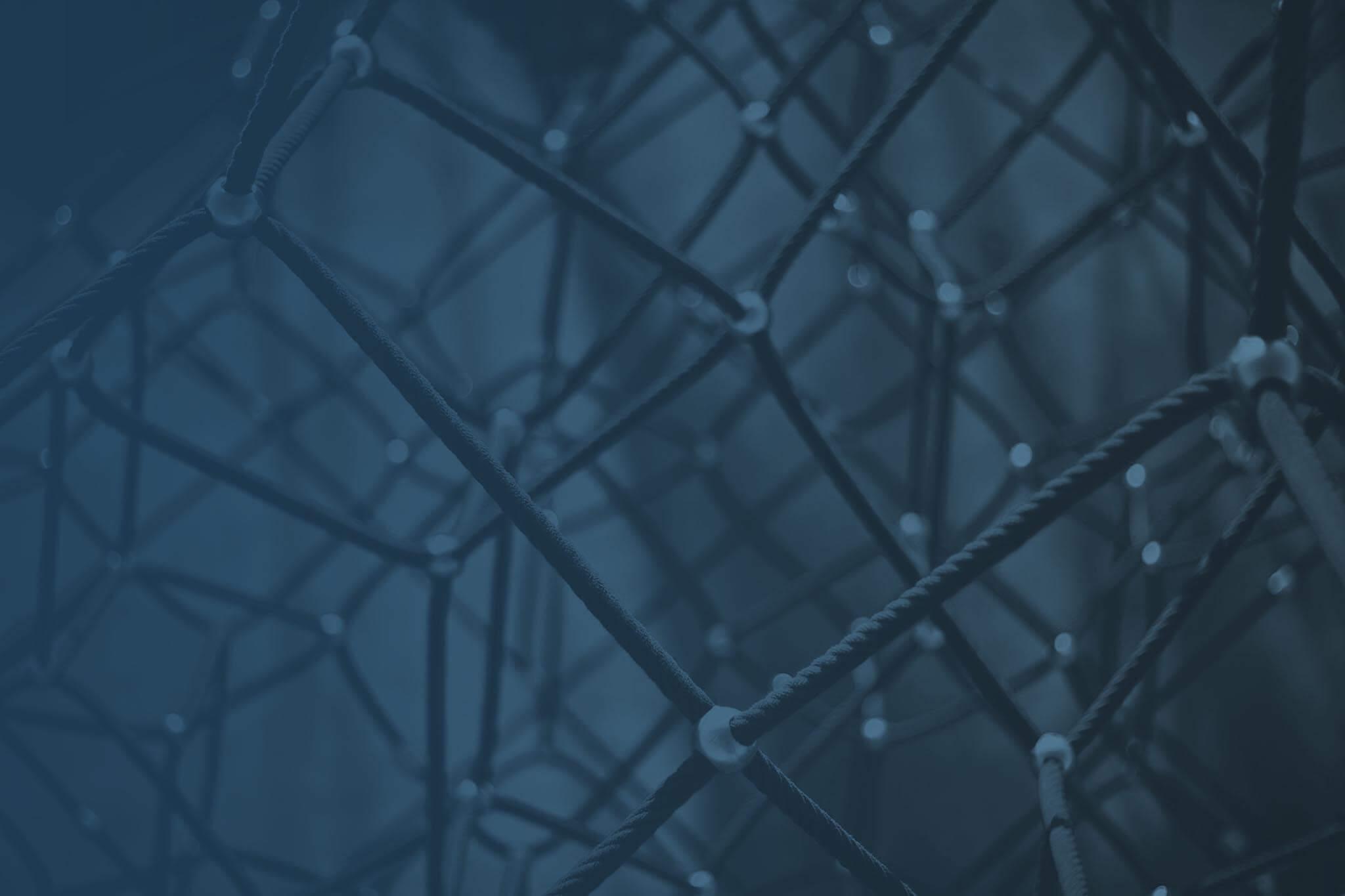 Foto: Verschiedenen miteinander verbundene Seile stellen Netzwerk und Community dar