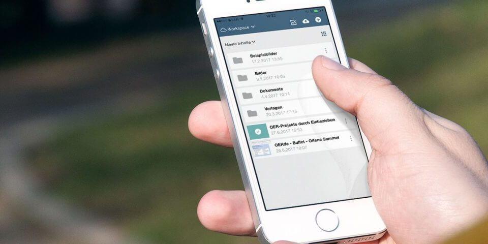 Bild: edu-sharing App unterwegs benutzen